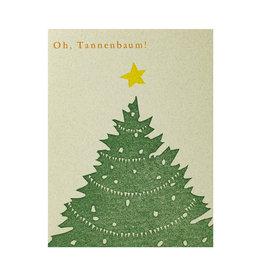 PushMePullYou Press Tannenbaum Letterpress Card