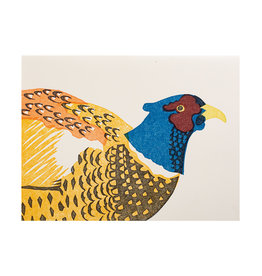PushMePullYou Press Pheasant Letterpress Card