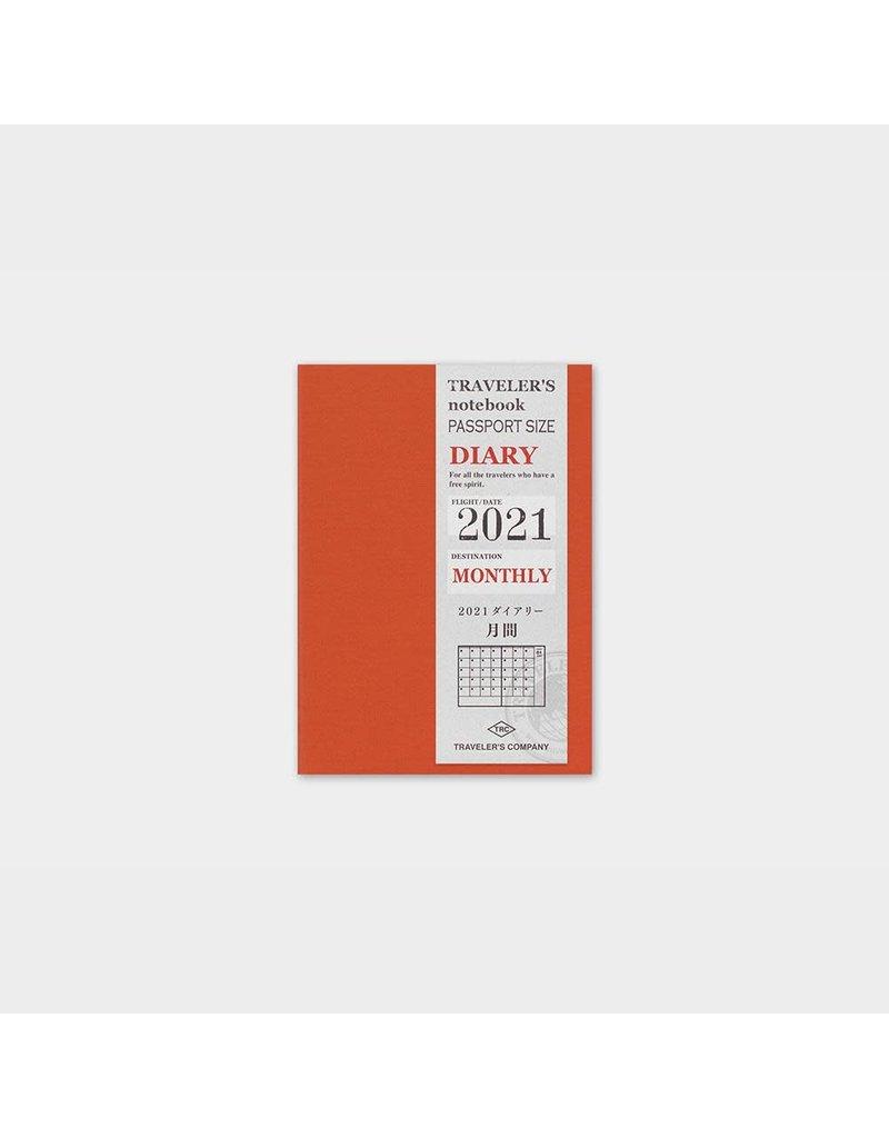 Traveler's Company Refill 2021 Monthly Passport