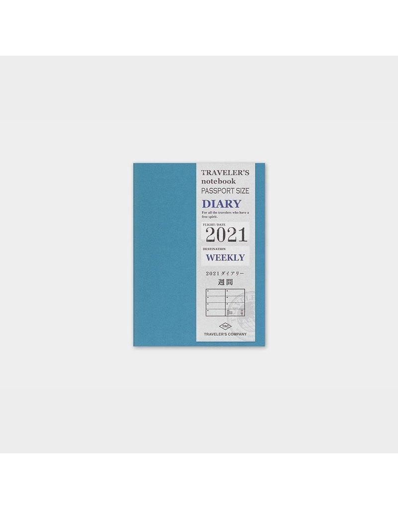 Traveler's Company Refill 2021 Weekly Passport