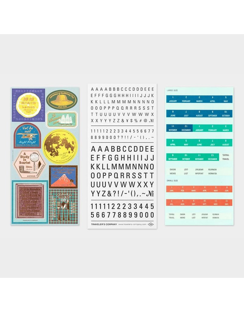 Traveler's Company Customized Sticker Set 2021