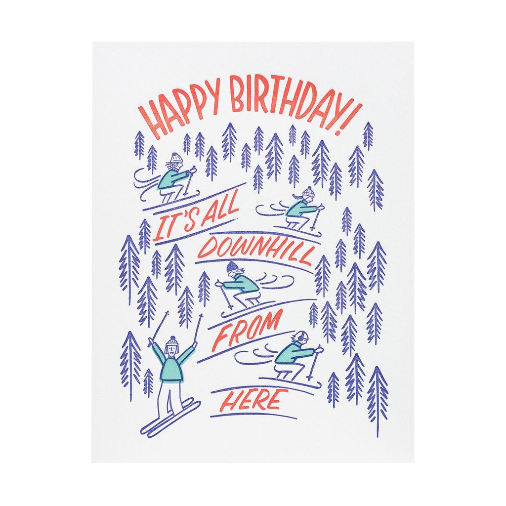 Friendly Fire Paper Downhill Birthday