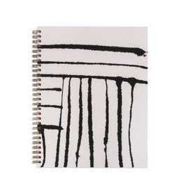 Moglea Hand Painted Stripe White Workbook