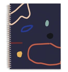 Moglea Hand painted Cosmos Dot Blue sketchbook
