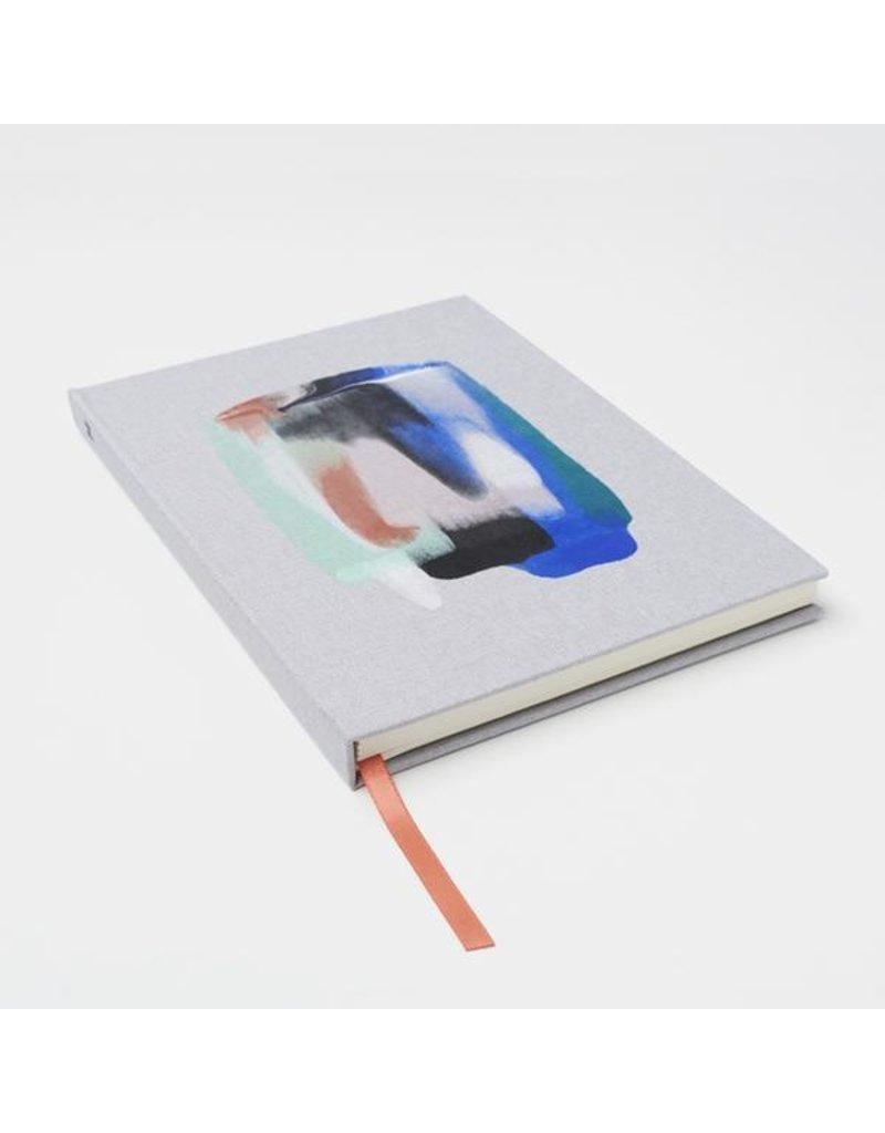 Moglea Hand painted Harbor Blue Cloth Book