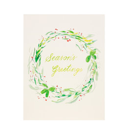 Isa Salazar Holiday Wreath Season's Greetings  box of 8