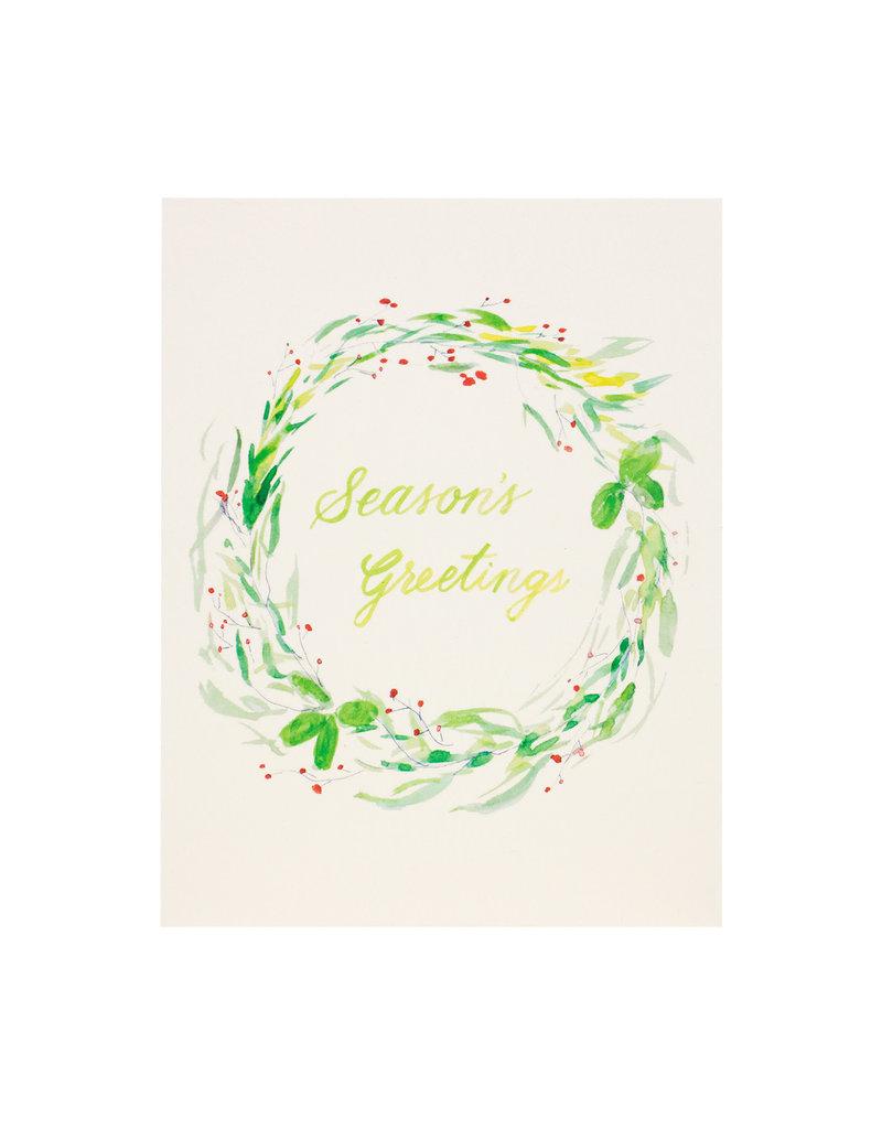 Isa Salazar Holiday Wreath Season's Greetings  box of 8