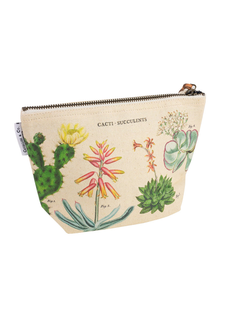 cavallini Cacti and Succulents Vintage Pouch
