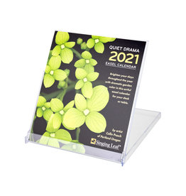 Singing Leaf Quiet Drama Desk Calendar 2021