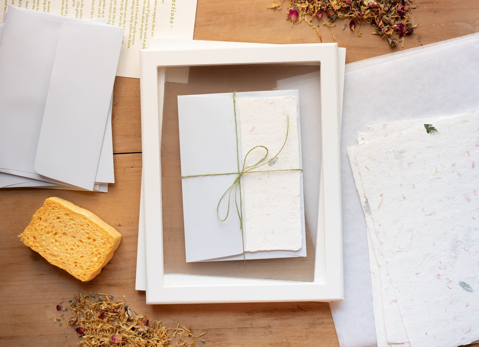 oblation library: how to make handmade paper