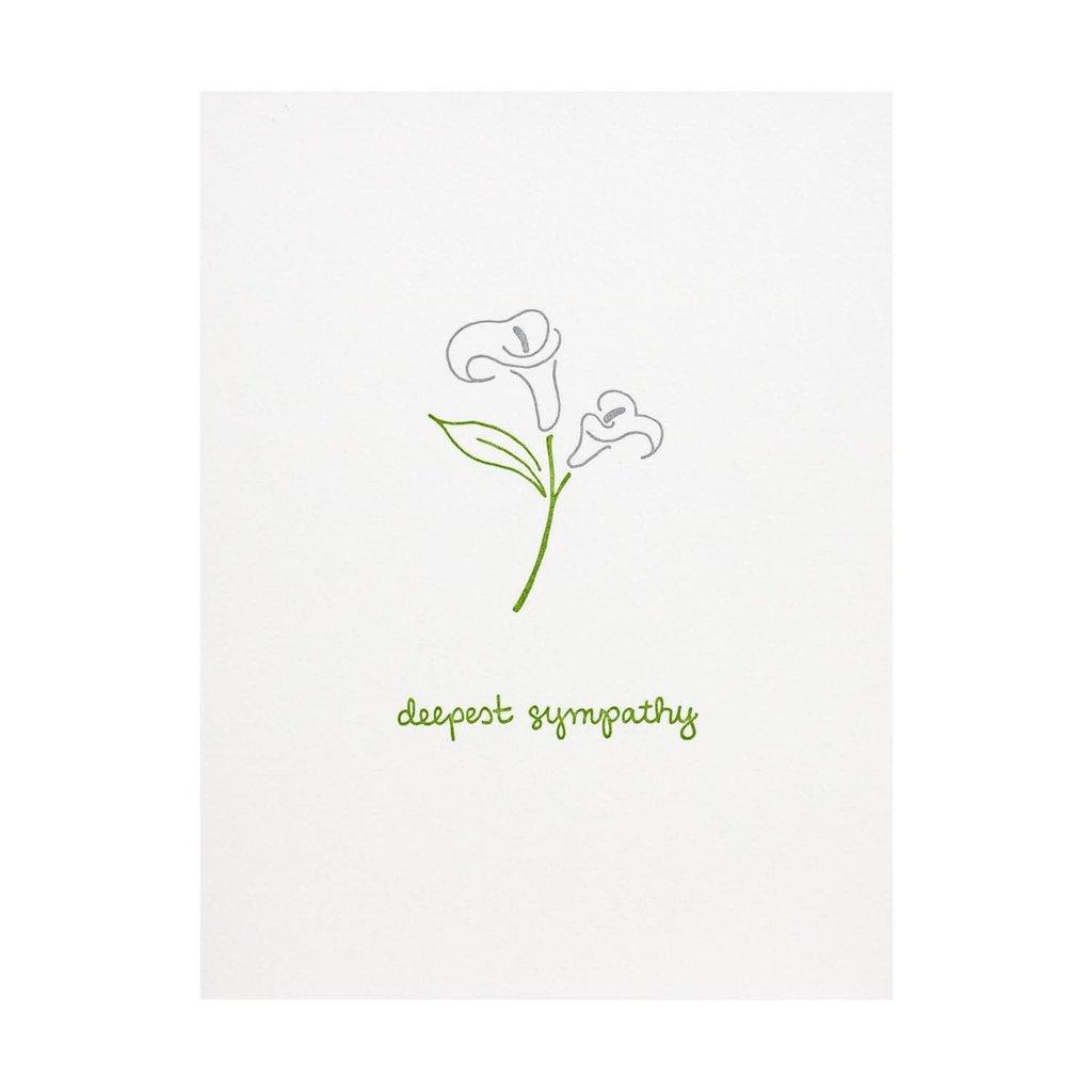 Albertine Press Lily Deepest Sympathy Letterpress Card