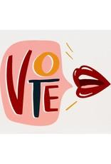 Dahlia Press Vote Lips Card