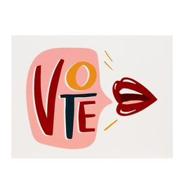 Dahlia Press Vote Lips Card