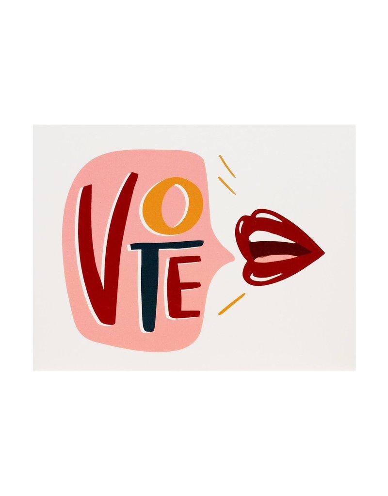 Dahlia Press Vote Lips