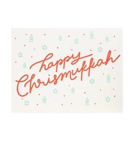 Dahlia Press Happy Christmukkah Letterpress Card