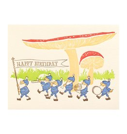 Ilee Papergoods Band Gnomes Birthday Letterpress Card
