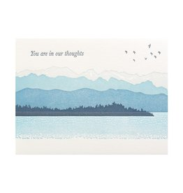 Ilee Papergoods You're in Our Thoughts Mountains Letterpress Card