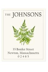 Felix Doolittle fern sprigs address label