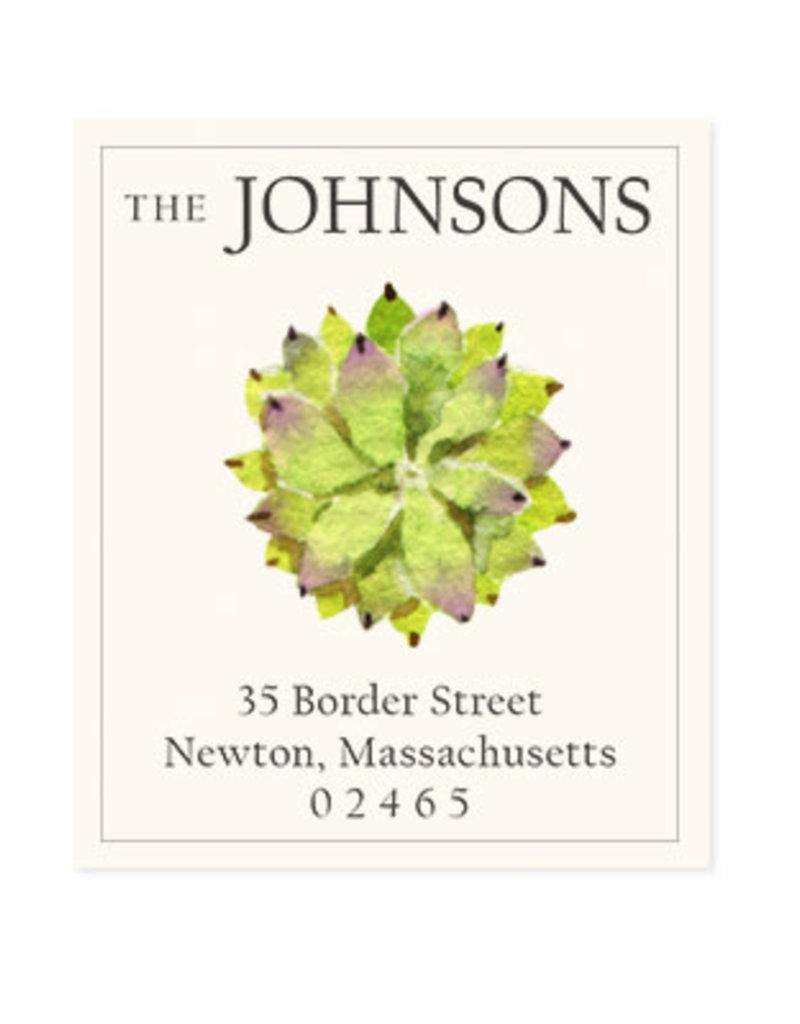 Felix Doolittle succulent rosette address label