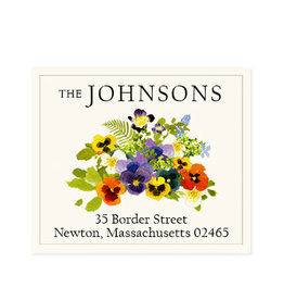 Felix Doolittle spring pansies address label