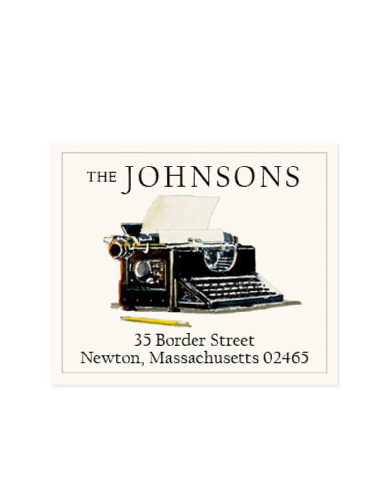 Felix Doolittle vintage typewriter address label