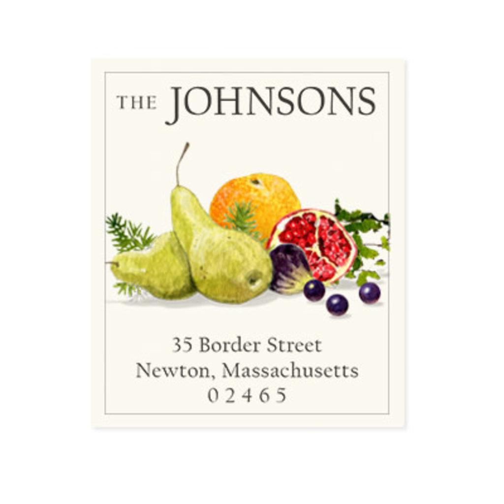 Felix Doolittle festive fruit address label