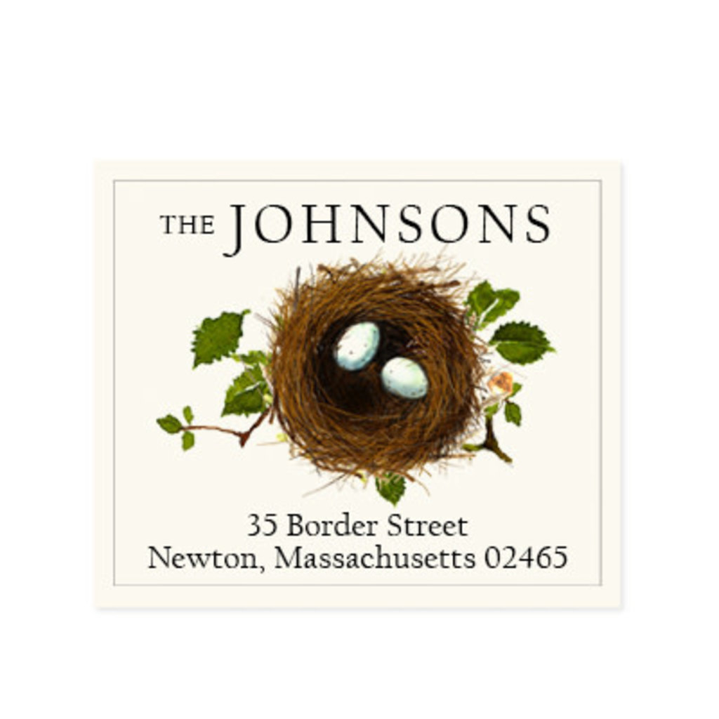 Felix Doolittle matching eggs address label
