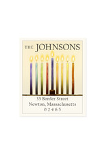 Felix Doolittle hanukkah candles address label