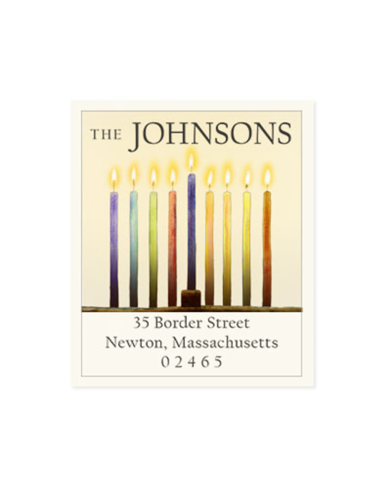 Felix Doolittle hanukkah candles address label