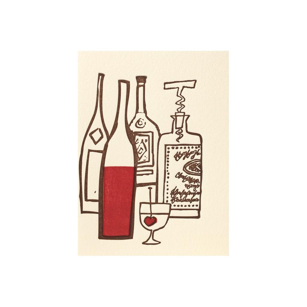 Ilee Papergoods Drinks Letterpress Card