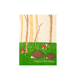 Ilee Papergoods Hedgehogs Forest Birthday