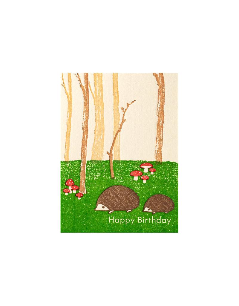 Ilee Papergoods Hedgehogs Forest Birthday