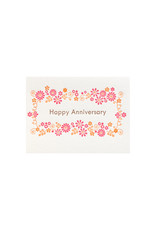 Ilee Papergoods Flower Frame Happy Anniversary
