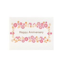 Ilee Papergoods Flower Frame Happy Anniversary