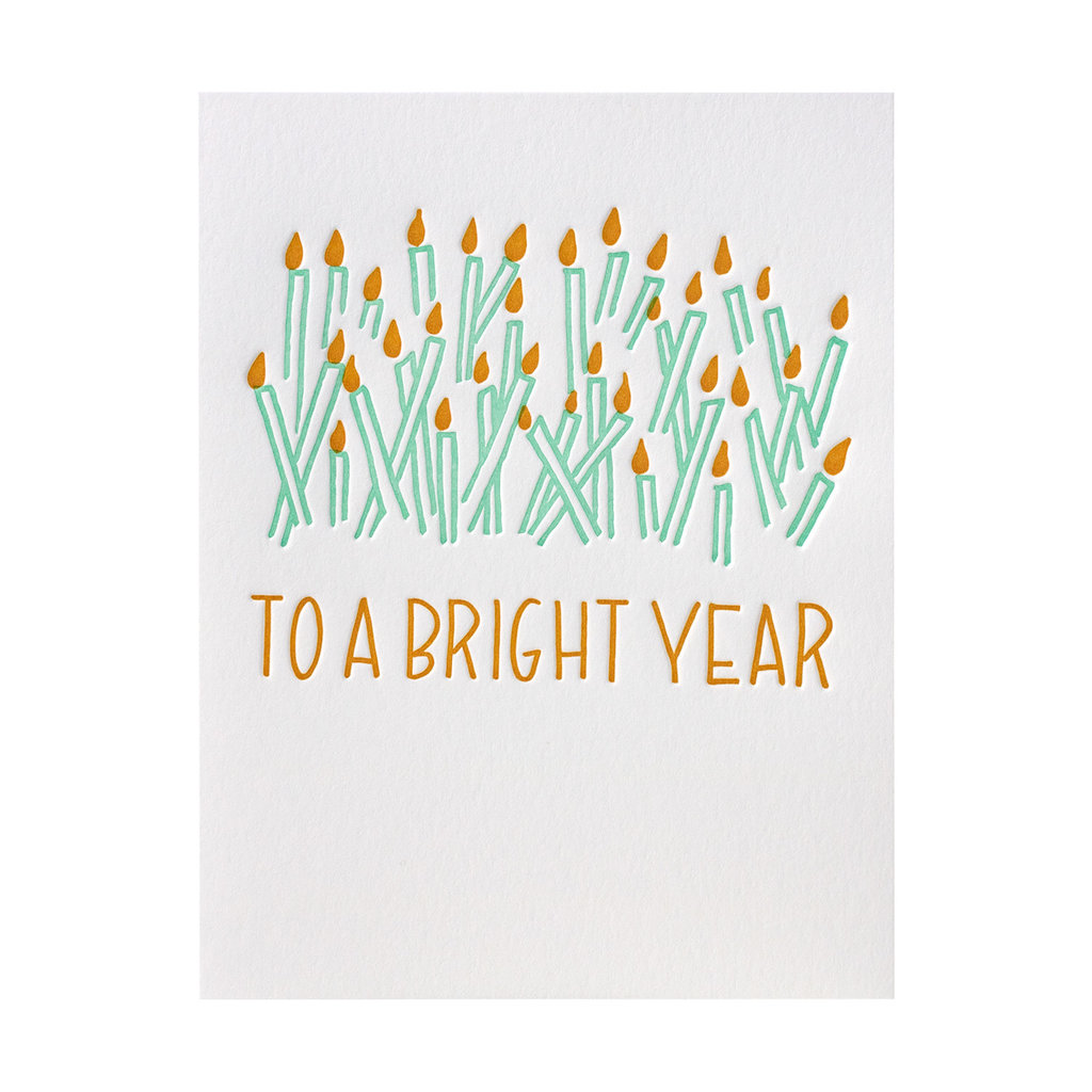 Ink Meets Paper To A Bright Year Letterpress Card