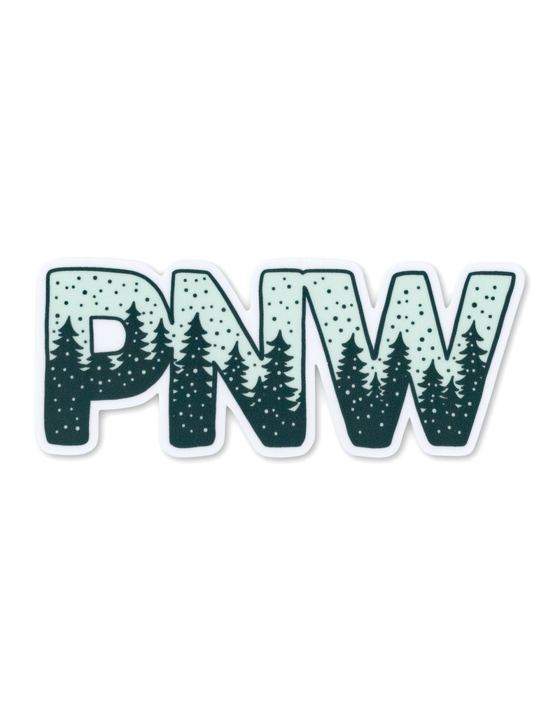 Pike Street Press Snowy PNW Sticker