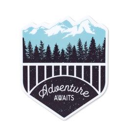 Pike Street Press Adventure Awaits Sticker