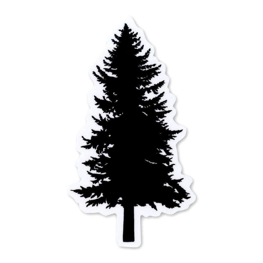 Pike Street Press Black Pine Tree Sticker