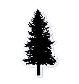 Pike Street Press Black Pine Tree Sticker