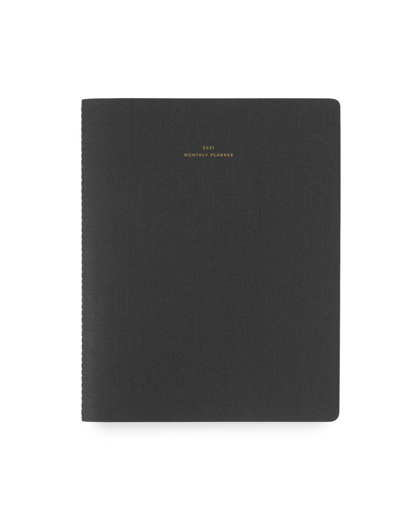 Appointed 2021 Monthly Planner Charcoal Gray