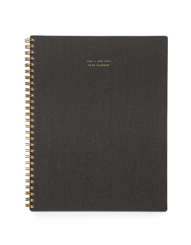 Appointed 2021 6-Month July-Dec Task Planner Charcoal Gray
