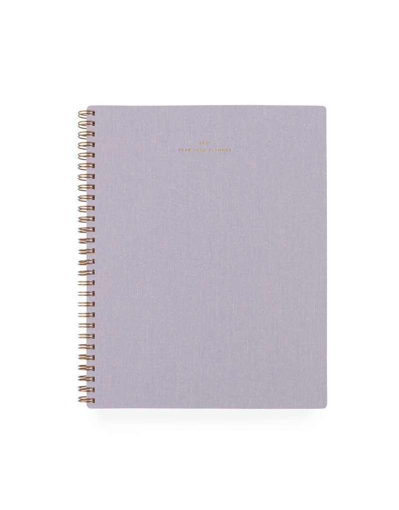 Appointed 2021 Year Task Planner Lavender Gray