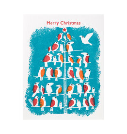 Ilee Papergoods Birds Merry Christmas Box of 6