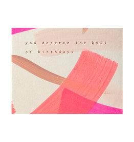 Moglea Best of Birthdays Pink Hand Painted Letterpress Card