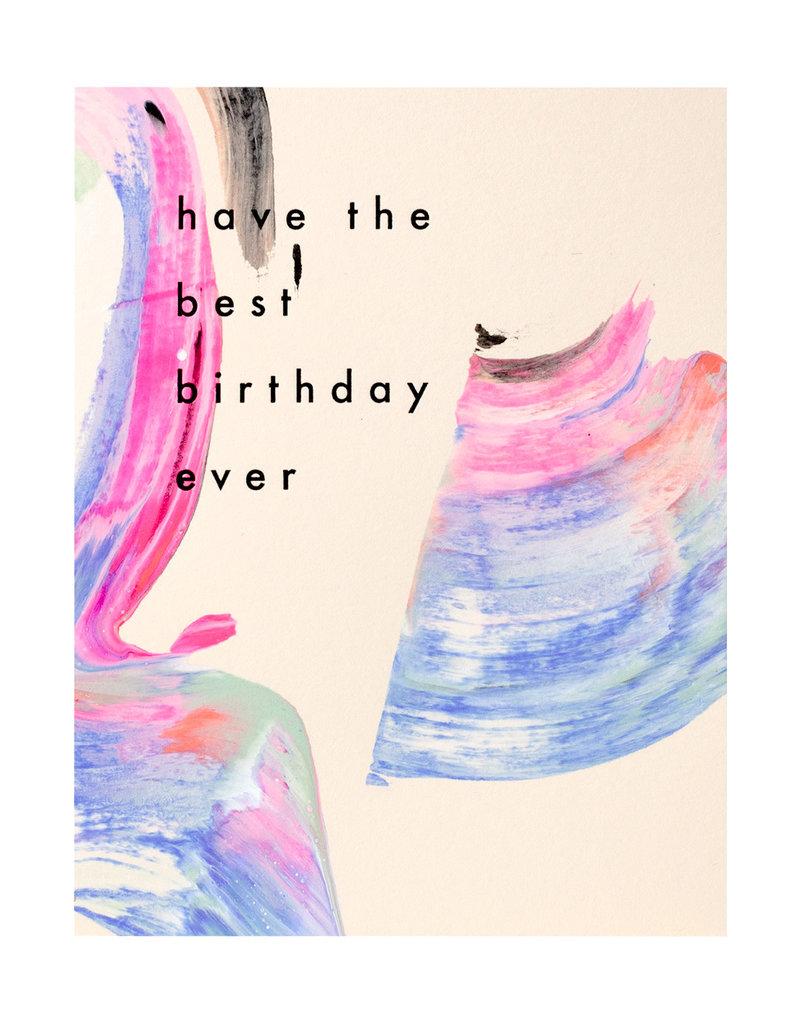 Moglea Candy Birthday Card