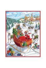 Caspari Santa's Sleigh Advent Calendar