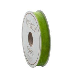 Caspari Moss Green Thin Velvet Riboon - 4 yds