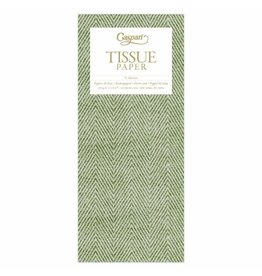 Caspari Green Jute Design Tissue Paper Package 4 Sheets