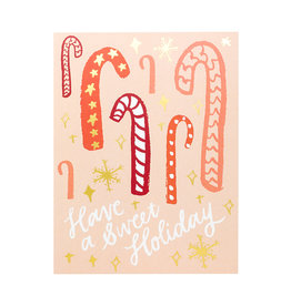 9th Letterpress Candy Cane Forest