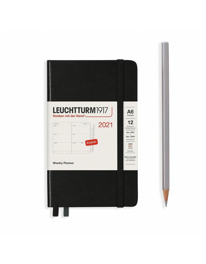 Leuchtturm 2021 A6 Black Hardcover Weekly Pocket Planner